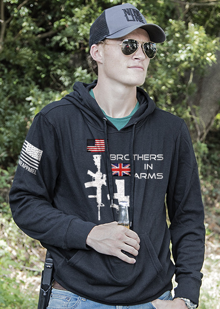 Light Weight Tailgater Hoodie - Brothers in Arms Dual Rifle US/British