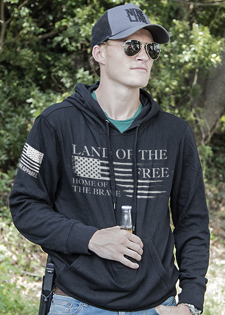 Light Weight Tailgater Hoodie - Home of the Brave Collection