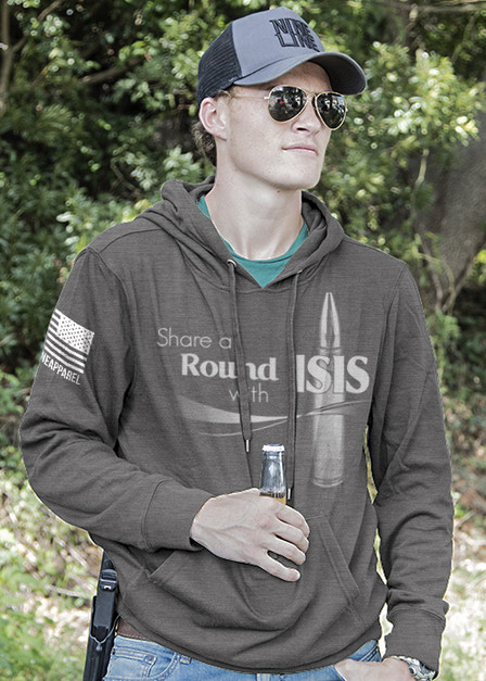 Light Weight Tailgater Hoodie - Share A Round with ISIS
