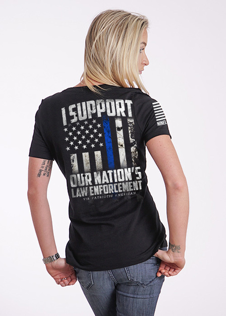 Women's Relaxed Fit T-Shirt - Support Our Law Enforcement