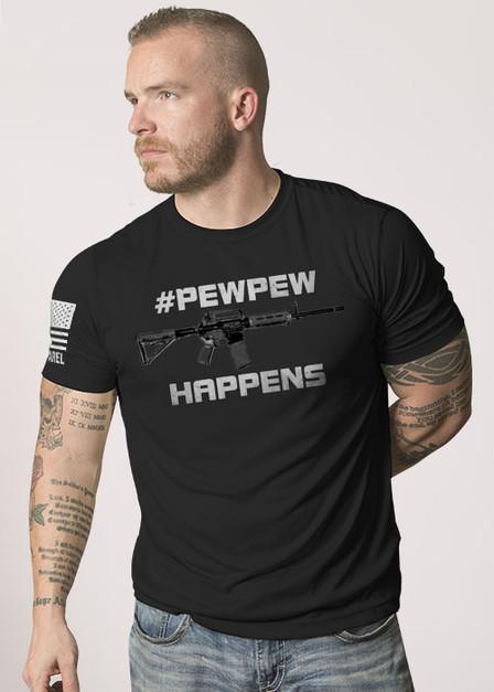 Moisture Wicking T-Shirt - Pew Pew Happens R2