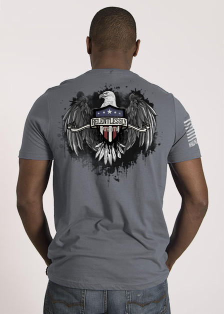 Men's T-Shirt - Relentlessly Patriotic Eagle