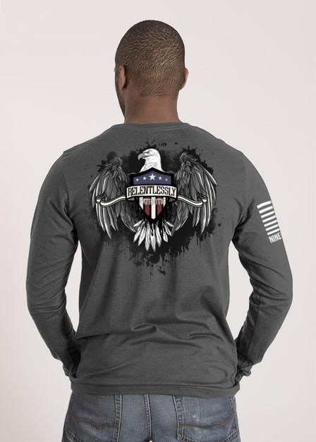 Mens Long Sleeve - Relentlessly Patriotic Eagle