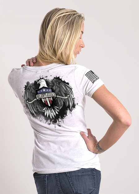 Women's Relaxed Fit T-Shirt - Relentlessly Patriotic Eagle