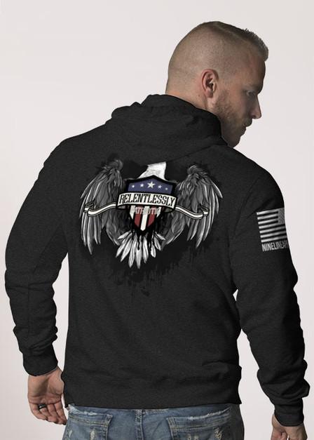 Hoodie - Relentlessly Patriotic Eagle
