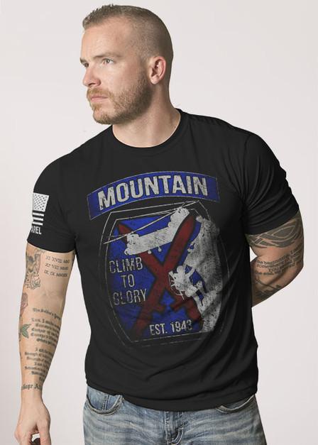 Moisture Wicking T-Shirt - 10th MTN Climb to Glory