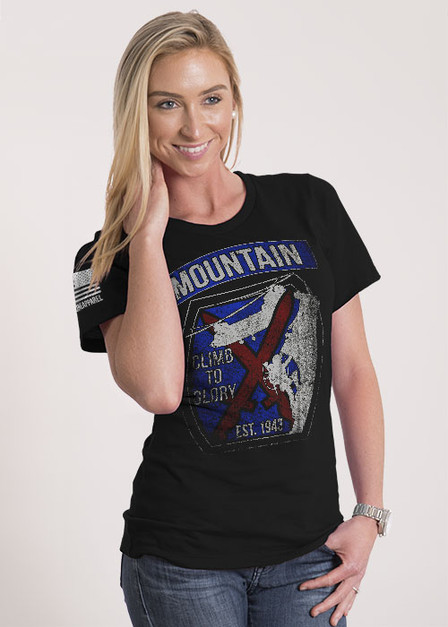 Women's Relaxed Fit T-Shirt - 10th MTN Climb to Glory
