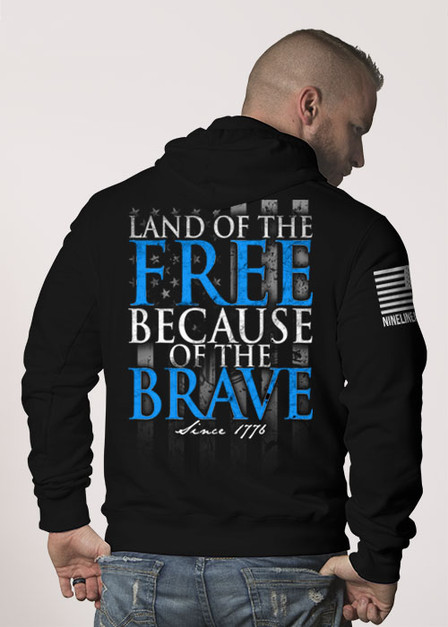 Hoodie - Because Of The Brave