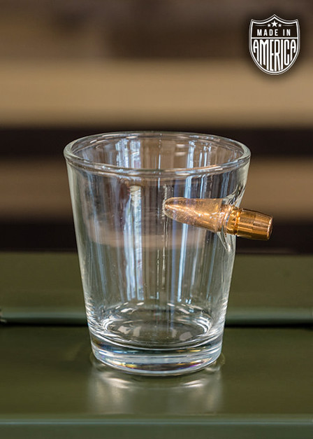 American Made .308 Shot Glass