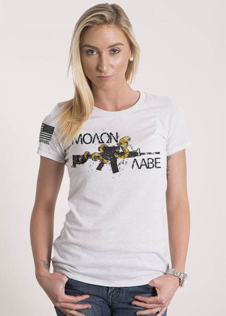 Women's Relaxed Fit T-Shirt - Molon labe - Snake