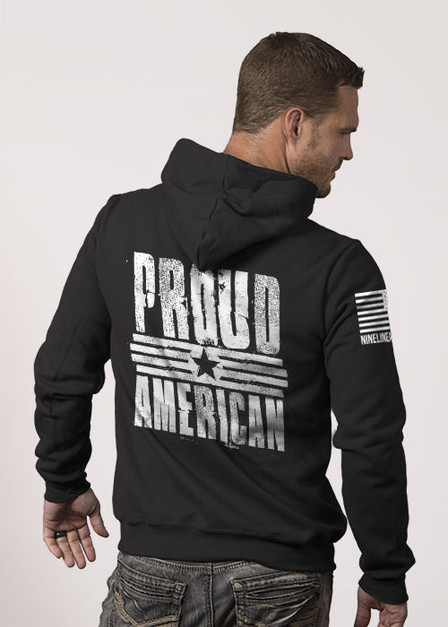Hoodie - Proud American.