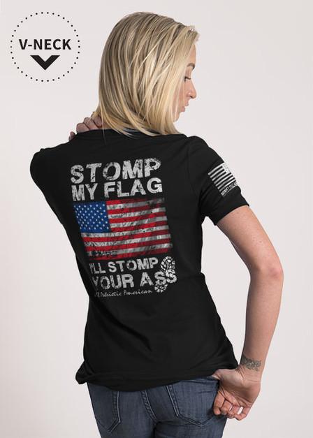 Women's Relaxed Fit V-Neck Shirt - Stomp