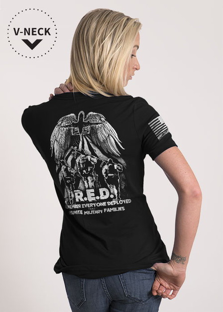 Women's Relaxed Fit V-Neck Shirt - Helping Heroes Fly