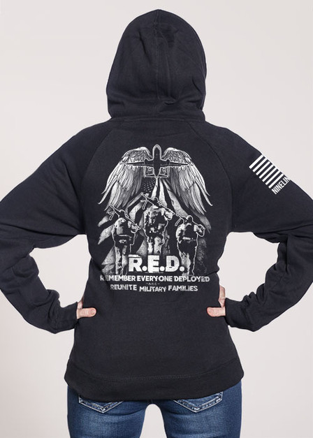 Women's V-Neck Hoodie - Helping Heroes Fly