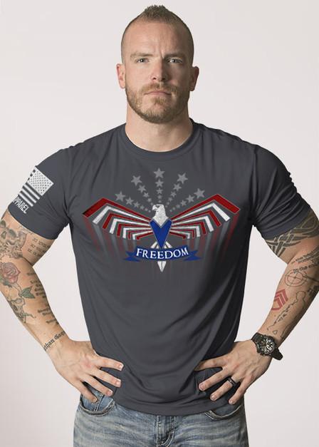 Moisture Wicking T-Shirt - Freedom Flies