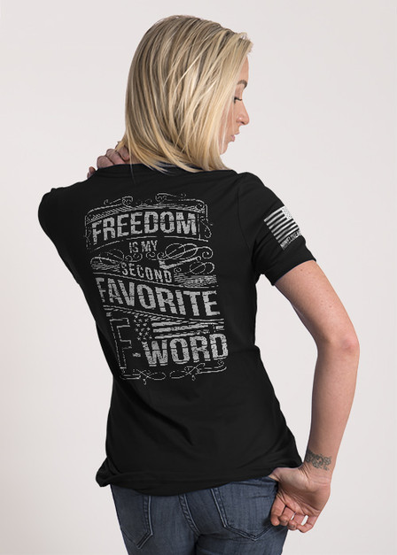 Women's Relaxed Fit T-Shirt — Freedom is My Second Favorite F Word