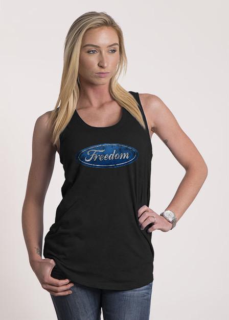 Women's Racerback Tank - Emblem of Freedom