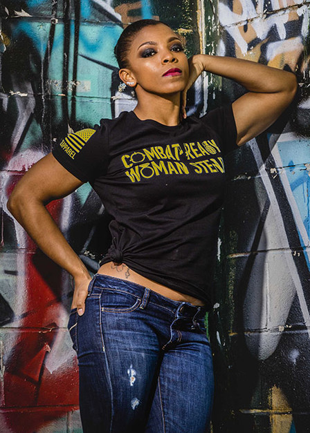 Women's Relaxed Fit T-Shirt - Combat Ready Woman Steady