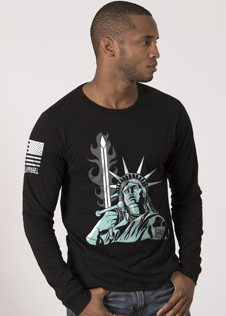 Men's Long Sleeve  - Lady Liberty