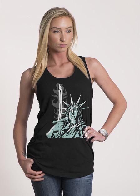 Women's Racerback Tank - Lady Liberty