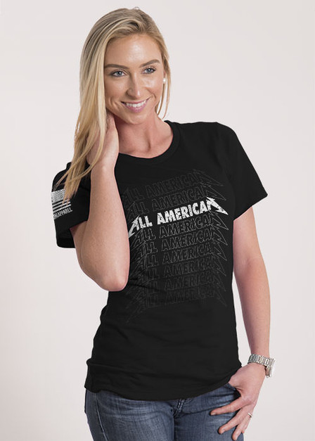 Women's Relaxed Fit T-Shirt - All American Rock