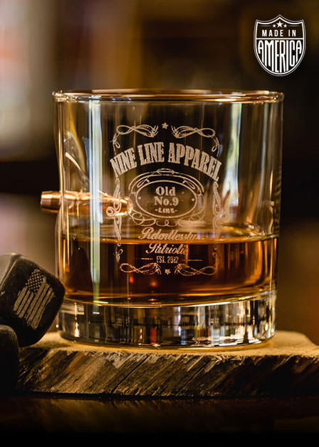American Made .308 Whiskey Glass - Old Number 9