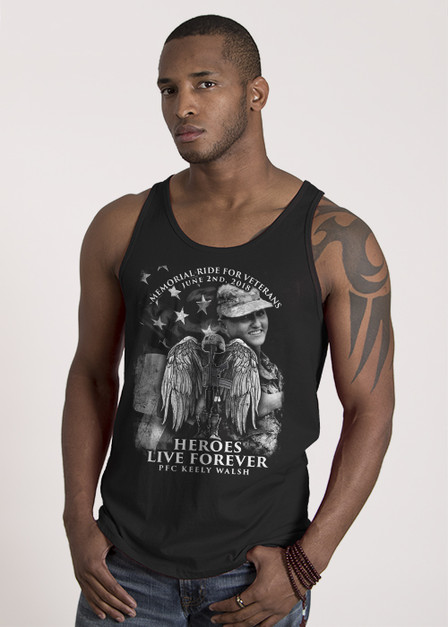 Jersey Tank - Heroes Live Forever