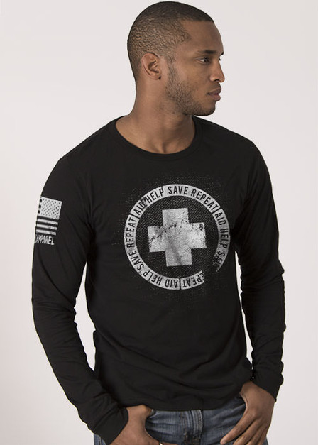 Men's Long Sleeve - Aid Help Save Repeat