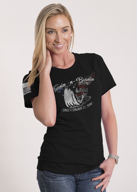 Women's Relaxed Fit T-Shirt -  Turnin N Burnin