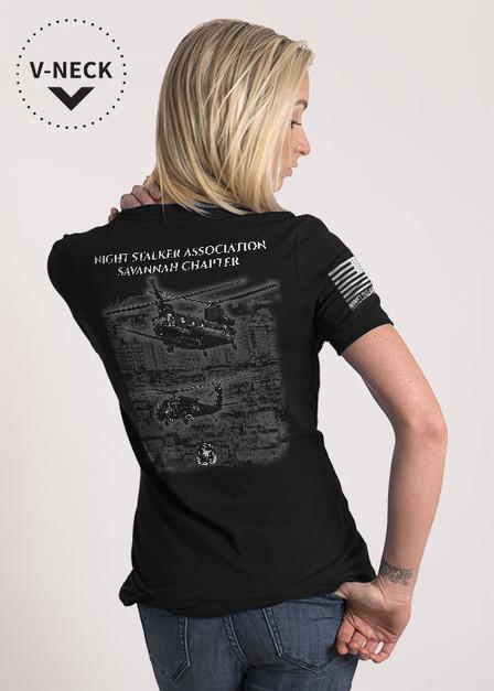 Relaxed Fit V-Neck Shirt - Night Stalker Association