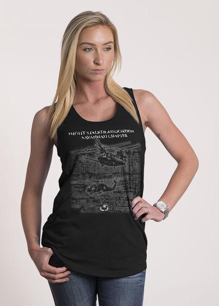 Women's Racerback Tank -  Night Stalker Association