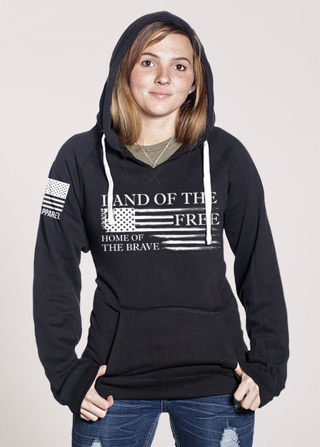 Women's V-Neck Hoodie - Home of the Brave