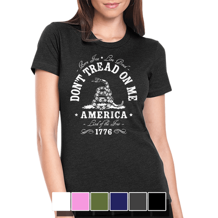 Womens Tee - Don't Tread On Me - Full Front