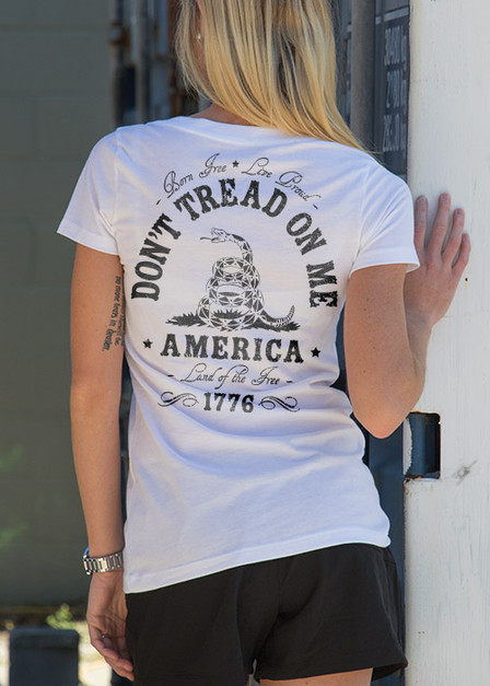 Women's V-Neck - Don't Tread On Me
