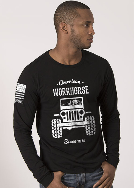 Men's Long Sleeve - American Workhorse - Full Front