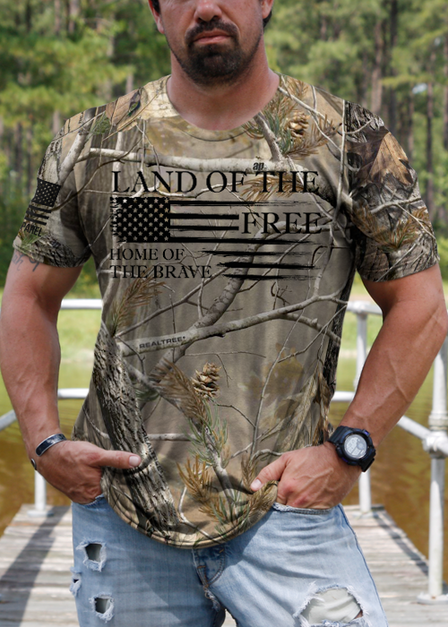 Men's Camo T-Shirt - Home of the Brave