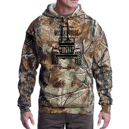 Camo Hoodie - American Workhorse - Full Front