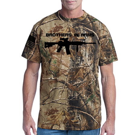 Camo T-Shirt - Brothers in Arms Rifle - Full Front