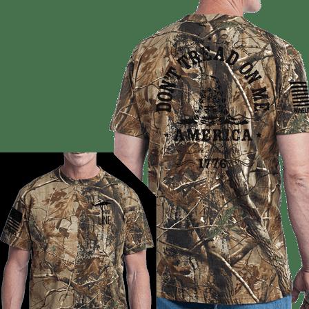 Men's Camo T-Shirt - Don't Tread on Me