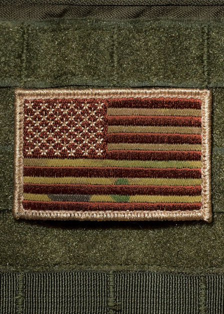 Camo American Flag Patch