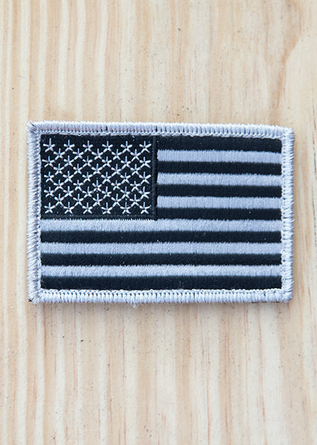 Black and White American Flag Patch