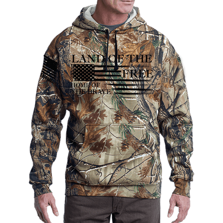 Camo Hoodie - Home of the Brave