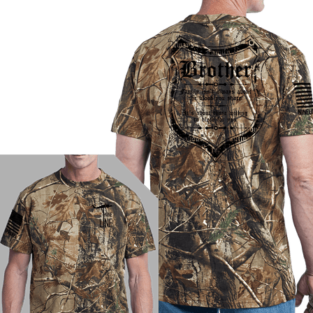 Men's Camo T-Shirt - Blood and Family