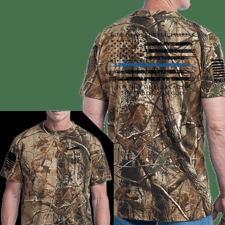 Men's Camo T-Shirt - Thin Blue Line