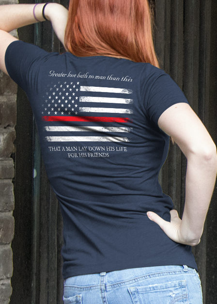 Womens Tee - Thin Red Line