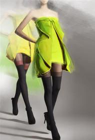 Gatta Girl-Up 19 Patterned Tights Imitating Stockings