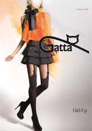 Gatta Girl-Up 18 Patterned Tights  Imitating Stockings