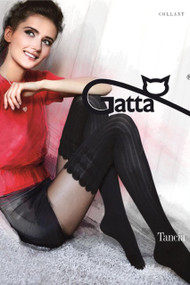 Tancia 08 Patterned Tights Imitating Stockings