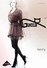 Girl-Up 24 Patterned Tights Imitating Stockings