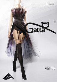 Girl-Up 22 Fancy Patterned Tights Imitating Stockings
